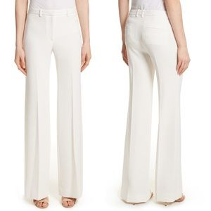 NWOT Theory Demitria 2 White Wide Leg Trousers